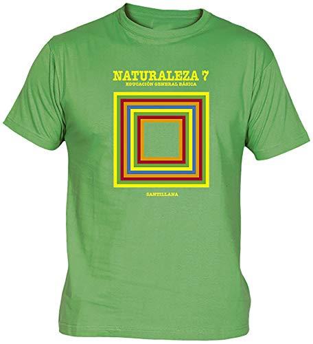 Camisetas EGB Camiseta Libro Naturales EGB Adulto/niño ochenteras 80´s Retro (9-11 años, Verde)