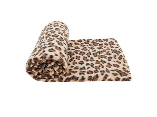 CB Home & Style Fleecedecke Decke 130 x 170 cm Kuscheldecke (Leopard)
