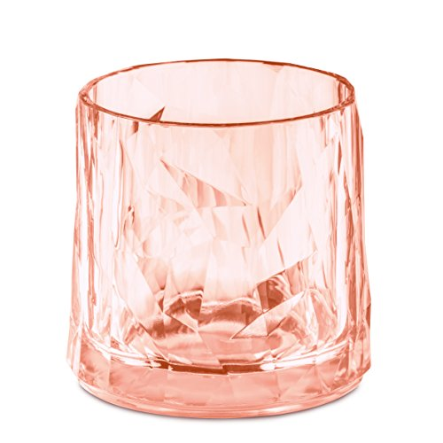 koziol 3402654 Club No. 2 en verre de 250 ml, Superglas transparentes, Quartz Rose