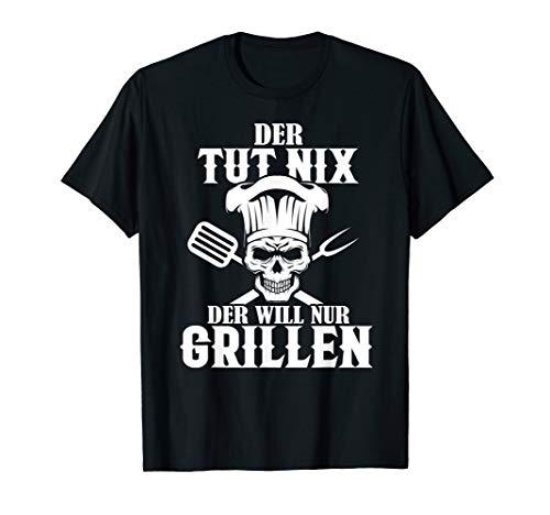 Herren Lustige Grill Profi Sprüche, Der Will Nur Grillen, Grillchef T-Shirt