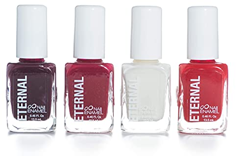 Eternal 4 Nail Polish Collection Call me Boss Lady – 4 Pieces Set: Long Lasting, Quick Dry Lacquer