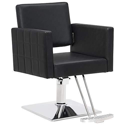BarberPub Salon Chair for Hair Stylist Hydraulic Barber Styling Chair, Beauty Spa Equipment 8821