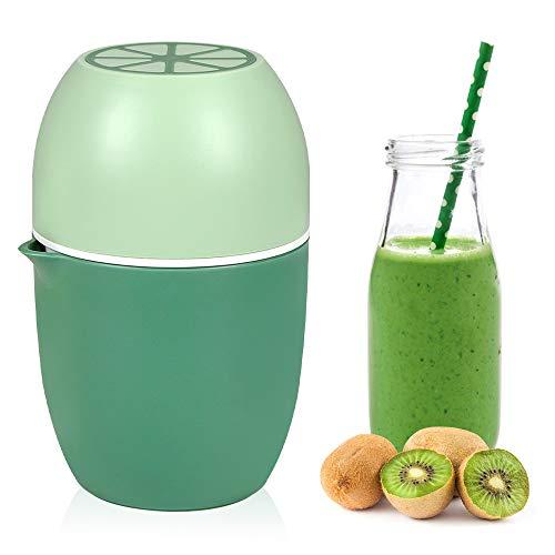 Wishstar Exprimidor Manual, Exprimidor de Limones Naranjas de Doble Uso, Exprimidor Limon para Limones/Limas/Naranjas/Naranja/Pomelo -Verde