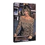 Model Poster Claudia Schiffer 27, Leinwand-Poster,