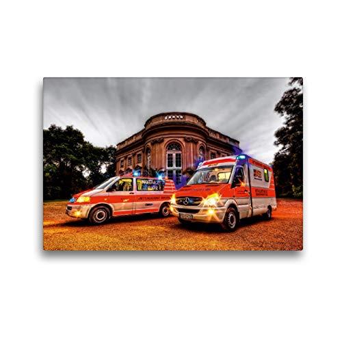 Premium Textil-Leinwand 45 x 30 cm Quer-Format NEF/RTW Rettungsdienst Braunschweig | Wandbild, HD-Bild auf Keilrahmen, Fertigbild auf hochwertigem Vlies, Leinwanddruck von Markus Will