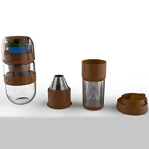 HL Portátil máquina de Espresso, de un Solo Clic en Inicio, operación fácil, Compatible café molido, Viajes pequeña Cafetera, accionamiento Manual Desde el pistón Acción El Ahorro de energía