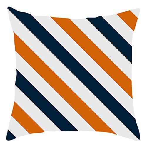 Iusun Fall Halloween Colorful Pillow Covers 17.72 x 17.72 Inches Square Waist Throw Case Autumn Harvest Season Decor Sofa Home Decor Cushion Covers (A)