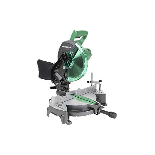 Metabo HPT C10FCG 10-Inch Compound Miter Saw, 15-Amp Motor, Single Bevel,...