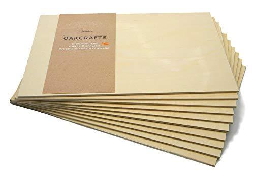 Sperrholzplatten aus Birkenholz, 300 mm x 210 mm (A4), 10 Stück (3 mm)
