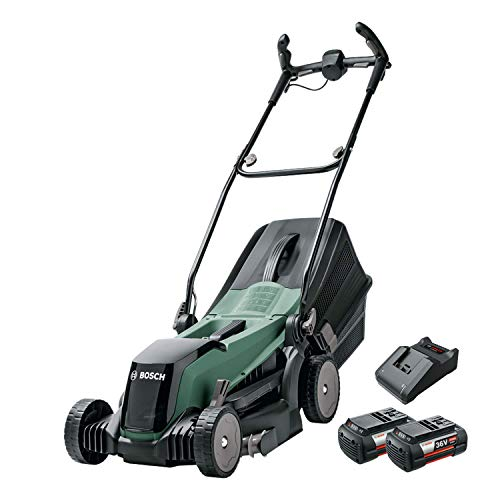 Bosch 06008B9B72 Cordless Lawnmower EasyRotak 36-550 (36 Volt, 2 x Battery 2.0 Ah , Cutting Width: 37 cm, Lawns up to 550 m2, in Carton Packaging), 38.5 cm*71.0 cm*42.0 cm