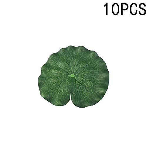Feuilles de lotus flottantes artificielles vertes pour décoration de terrasse, étang à poissons koï, bassin de piscine, aquarium (B)