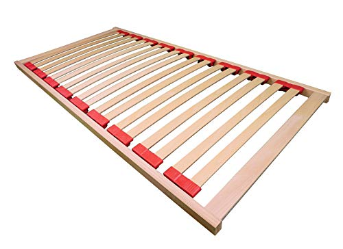 AM Qualitätsmatratzen - Lattenrost Babybett 60x120 cm - fertig montiert - 16 Leisten - unbehandeltes Buchenholz - Kinderbett Lattenrost 60x120