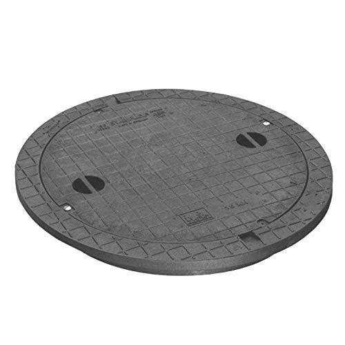 Schachtabdeckung STABIFLEX Abdeckung NewEdition-15kN-Typ1 (mit Griffmulden) Kanaldeckel Zisternendeckel Abdeckung Zisterne Schacht leicht Kunststoff PE