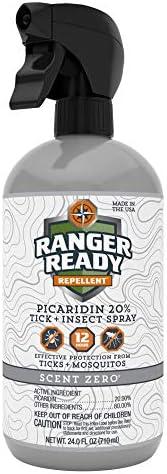 Ranger Ready Picaridin 20% Tick & Insect Repellent, Scent Zero, 5 Oz.