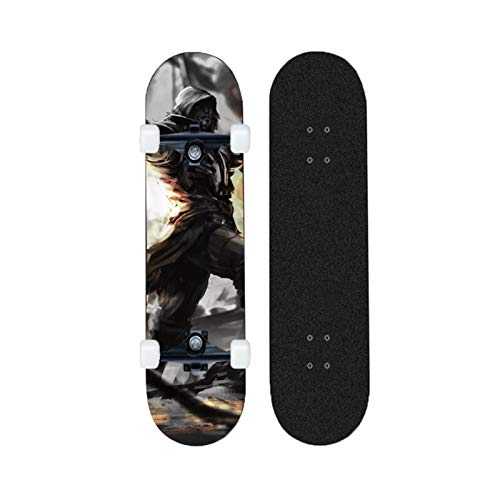 Yizhi Longboard Standard Skateboard Assassin'S Creed Beginners Adultos Boys and Girls Professional Brush Street Dance Board