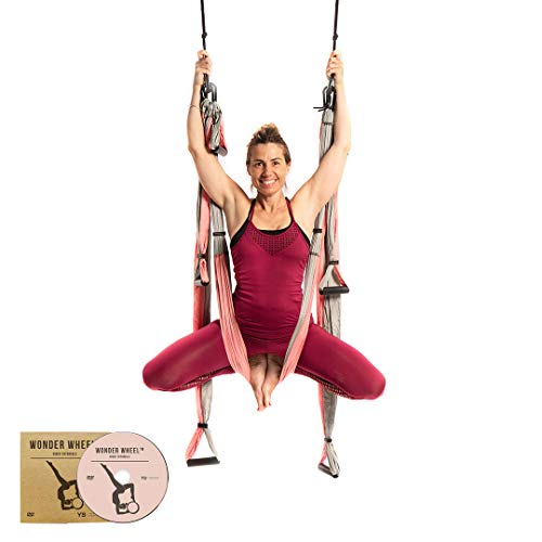 YOGABODY Yoga Trapeze (Official) with DVD, Baby Pink - Yoga Inversion Swing