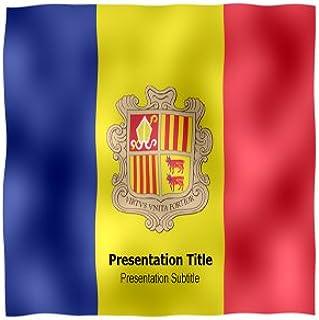 Andorra Animated Flag Powerpoint Templates - Andorra Animated Flag Powerpoint PPT Backgrounds Slides