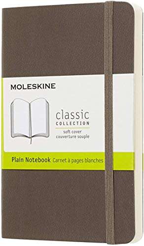 "Moleskine Classic Notebook, Soft Cover, Pocket (3.5"" x 5.5"") Plain/Blank, Earth Brown, 192 Pages"