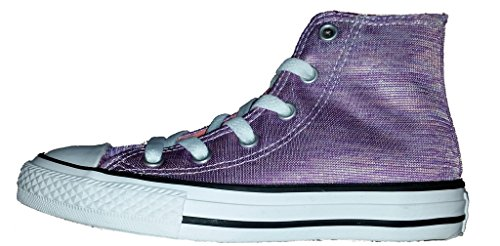 Converse Chuck Taylor All Star High Girls Fashion-Sneakers 758641 (5 Toddler M, Bright Violet/Sunblush/White)