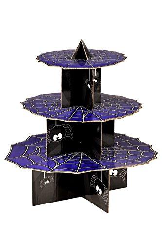 Premier Housewares Incy araignées à 3 Niveaux pour gâteaux, Carton, Violet/Noir, 36 x 36 x 37 cm
