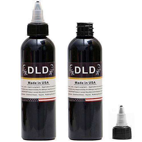 Lining & Shading Black - DLD Powerful Black Tattoo Ink - Permanent Black...