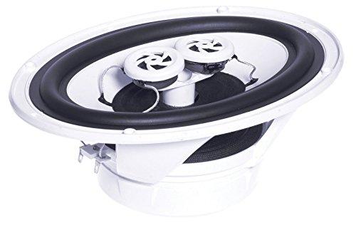 e-audio Elliptische vochtbestendige plafondluidspreker met dubbele offset tweeters 90W 4 ohm