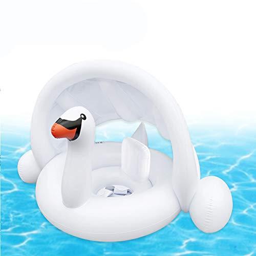 Sunshine smile Baby schwimmring mit sonnendach Aufblasbares Kinderboot Aufblasbarer Schwimmhilfe Baby Pool Schwimmring Aufblasbares Schwimmen Ring Schwimmsitz (G)