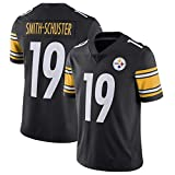 Men NFL Rugby Jersey Football Clothing-Pittsburgh Steelers 19# Smith-Schuster- Mens Rugby Fan T-Shirts Print Top Short Sleeve for Men