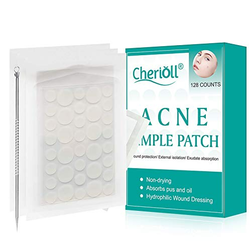 Patch per l'acne, Pimple Patch, Spot Copertura & soluzione di trattamento Acne cistica & Pimple Scars, Batteri impermeabile (128count)