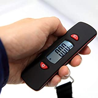 JJJJD Baggage Scale Small Rechargeable Luggage Scale Portable Home Travel Electronic Scale (Weighing Range 50kg-50g) (Color : Red)
