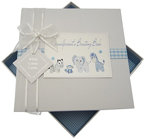 White Cotton Cards Toys Range S Boasting Book Medium Album Jouets (Bleu)