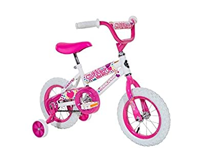 """Magna Girls 12"""" Sweet Heart Bike, Small, White/Pink by Dynacraft BSC Inc. (Dropship)"""