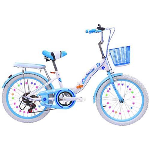 LQ&XL Btt Bicicleta Plegable niño 18
