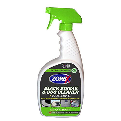 ZORBX Extra Strength Black Streak and Bug Cleaner and Odor Remover – Removes Streaks and Bugs from RVs, Motor Homes, Vehicles and More Without Removing Wax (24oz)