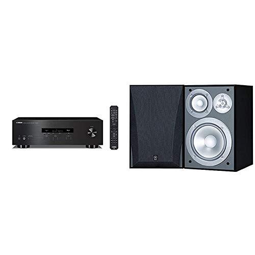 Yamaha R-S202BL Stereo Receiver Bundle with Yamaha NS-6490 3-Way Bookshelf