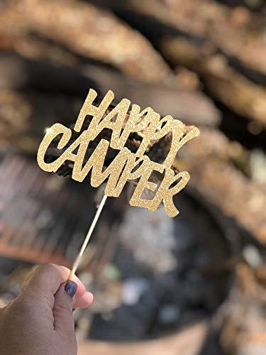 Gelukkige Camper Cake Topper Gelukkige Camper Verjaardag