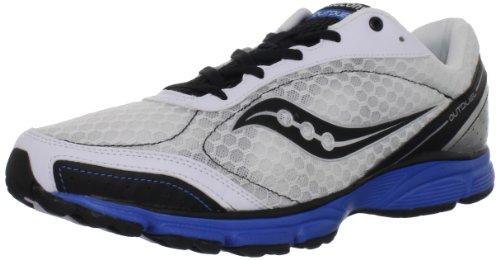 SAUCONY Grid Outduel Zapatilla de Running Caballero, Blanco/Negro/Azul, 46