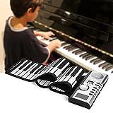 Rolling Up Piano, Piano Exquisito Y Portátil 128 Ritmos 128 Tonos 30 Canciones De Demostración Altavoz Incorporado Y Conector Para Auriculares Para Niños, Niños, Principiantes