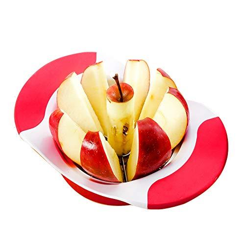 LBYY Apfelschneider, Birnen Apfelschäler und Corer Obstschneider,mit Edelstahl Sharp Serrated Blade, Küchenwerkzeug Große Größe (Color : Red)