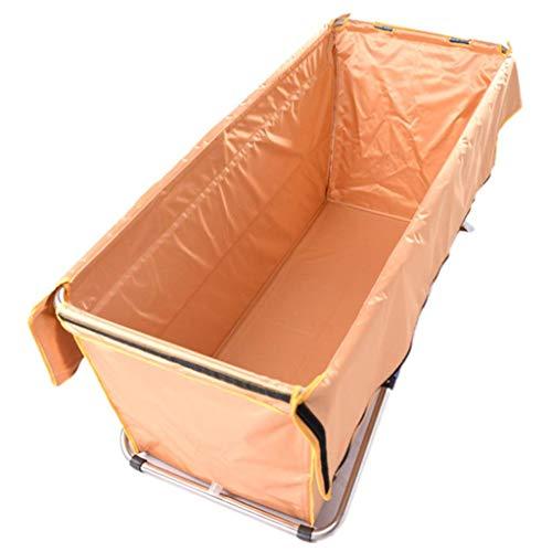 Qiutianchen Bañera Plegable portátil Moderna, bañera de hidromasaje a Prueba de Agua for el hogar for Adultos Multifuncional con el Aislamiento de la Tapa Cuerpo Completo (Color : Orange)
