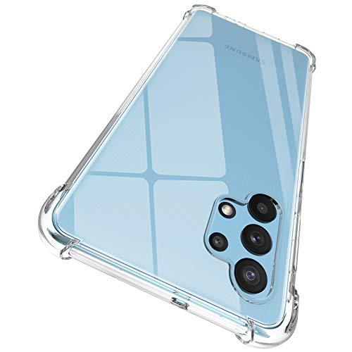 ORNARTO Hülle für Galaxy A32 5G, Transparent Soft TPU Silikon Handyhülle Vier Ecke Kante Stoßdämpfung Design Kratzfest Durchsichtige Schutzhülle für Samsung Galaxy A32 5G (2020) 6,5 Zoll Klar