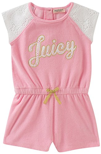 Juicy Couture Girls' Toddler Romper, Pink, 3T