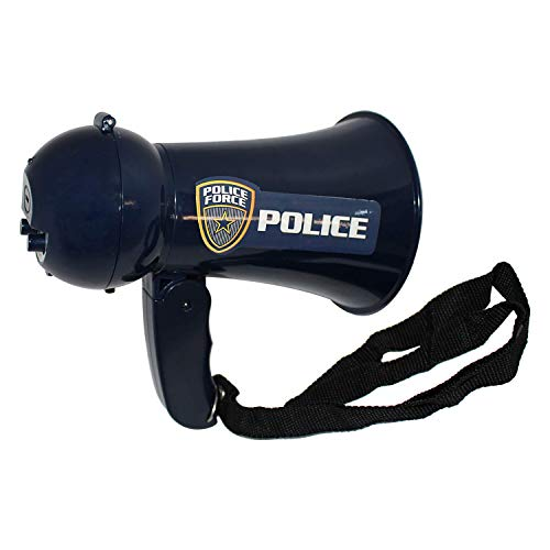 Megaphone for Kids - Pretend Police Costume for Kids - Police Officer Toys - Loud, Clear, Folding Handle, Strap, Volume Control Siren, Voice Changer for Kids - Play Kids Police Toys by Toy Goodkids