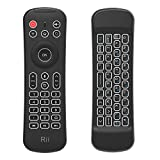 Rii MX6+ Wireless + IR - Control remoto con Gyro Mouse, teclado retroiluminado y micrófono para Android Smart TV, TV Box, PC y Mac