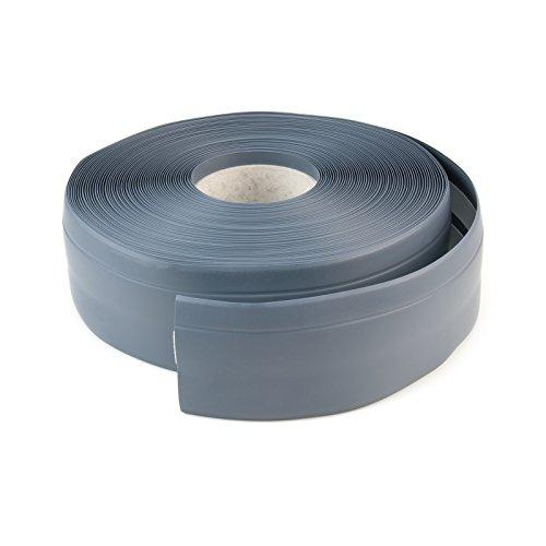 Rodapié flexible de PVC para revestimiento de suelos y protección para el techo, de 50x15mm. Elástico, montaje fácil, color beis