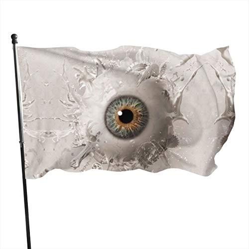 Amerikaanse Guard Vlag Banner Thuis Vlaggen Zaag D FINAL HOOFDSTUK Donkere Horror Ogen Verticale Erf voor Familie Patio College Decoratie 3x5 Voet