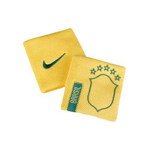 Nike Coppia di Polsini Tergisudore Tennis Calcio Brasile