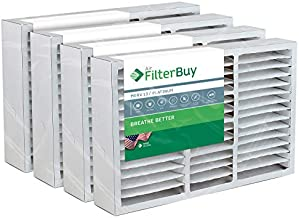 FilterBuy 16x25x5 Air Filter MERV 13, Pleated Replacement HVAC AC Furnace Filters for Honeywell, Air Kontrol, Bryant, Carrier, Day & Night, Lennox, and Payne (4-Pack, Platinum)