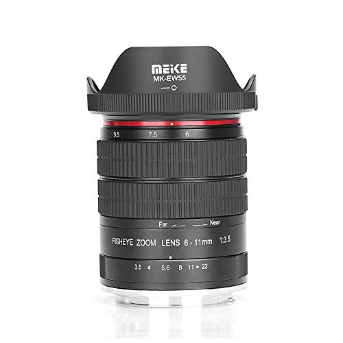 Meike - Objetivo ojo de pez ultra ancho F3.5 para todas las cámaras Canon EOS EF Mount DSLR con APS-C/Full Frame+