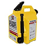 Surecan 5 Gallon 19 Liter Self Venting Diesel Fuel Can w/Rotating Spout, Yellow